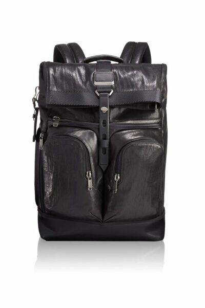 London Roll Top Leather Backpack Alpha-Bravo