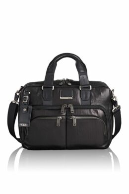 Albany Slim Commuter Leather Brief  Alpha-Bravo