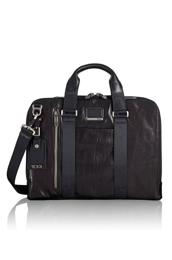 Aviano Slim Leather Brief  Alpha-Bravo